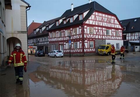 Hochwasser Königsbach Stein