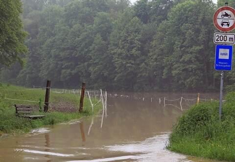 Königsbach Stein Hochwasser