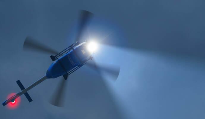 Hubschrauber über Pforzheim